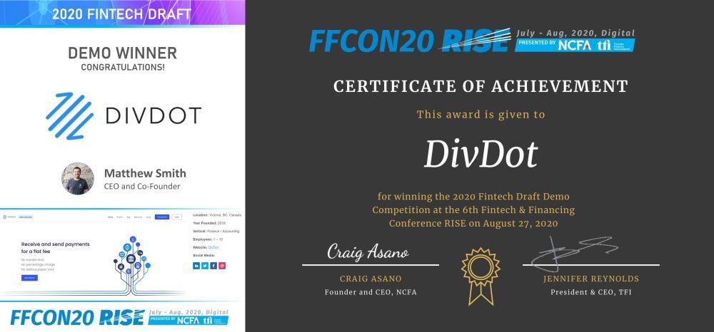 2020 Fintech Draft Demo Winner - DivDot wide_