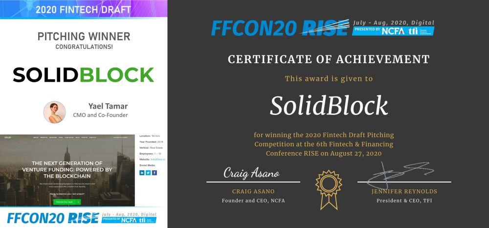 2020 Fintech Draft Pitching Winner - SolidBlock wide_